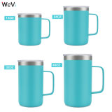 Wevi 14oz 24oz 32oz 40oz Double Wall Insulated Thermos Stainless Steel Coffee Cup with Handle