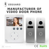 Home Security 4 Wires Doorbell 4.3 Inches Intercom Video Door Phone