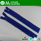 3# Nylon Finished Zipper with Auto-Locked Slider