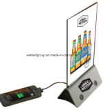 LED Illuminated Menu Holder & Power Bank
