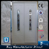 Commercial Household Steel Double Entry Glass Metal Door
