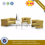Classic Design Wooden Waiting Office Leather Sofa (HX-CS016)
