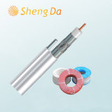PVC Insulated 75 Ohm Coaxial Drop Cable with Messenger