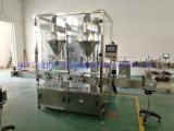 High Efficiency Powder Bottle Feeding Filling Sealing Capping Labeling Printing Processing Line