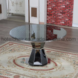 High End Modern Black Glass Stainless Steel Table (FD-008T)