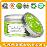 Custom Tin Box with Scented Candle for Travel Can Packaging