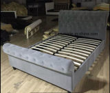 PU or Fabric Bed with Diamond and Wood Slats