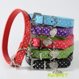 Polka DOT Dog Collars Pet Products Puppy Leashes Heart Pendant