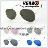 Classic Updated Design Metal Sunglasses Km16153 Flat Lens