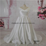 V Neck Satin New Design Wedding Dress