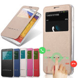 Ultra Thin Slim Smart Slide Window Flip Leather Case Cover for Samsung Galaxy Note4 S4 S6