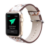 38mm Wholesale Price Good Quality Custom Painting Cow Leather Apple Watch Belts