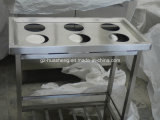 Hotel Metal Kitchen Cabinet with Wash Sink (HS-031)
