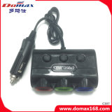 Car Accessories 3 Sockets Refillable Smocking Electronic Splitter Lighter