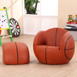 Luxury Home Playroom Basketball Children Furniture/Kids Sofa with Ottoman (SXBB-27-02)