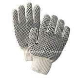 Industrial Working Cotton PVC Dotted Kintted Gloves