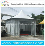 10m External Diameter Luxury Tensioned Membrane Structure Tent, Hexagonal Tent with White Inside Lining, Glass Wall