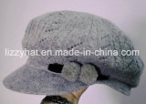 Winter Hat Fashion Knitted Wool Hat/Cap with Pompoms