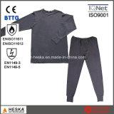 Cotton Flame Retardant En11612 Protective Fr Knitted Underwear