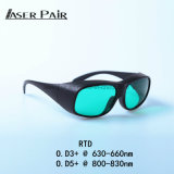 Rtd Laser Safety Glasses 630-660nm&800-830nm V. L. T: 30% for Red Lasers, 808nm Diodes, 635nm Laser, 808nm Laser, Skin Beauty Equipment