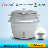 White Color Classic Design Stainless Steel Lid Aluminium Steamer Rice Cooker to South America