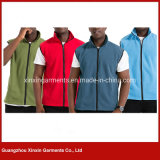 Custom Made Cheap Men's Micro Polar Fleece Sleeveless Jacket Coat Clothes (J359)