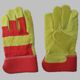 Pig Split Leather Full Palm Work Glove-3593
