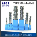 High Quality 55HRC 4flute Tungsten Steel End Mill Cutter