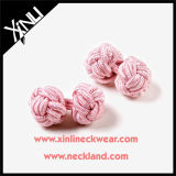 Custom Fashion Silk Knot Mens Cuff Links