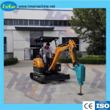 2.1ton Mini Hydraulic Excavator with Break Hammer Attachment Small Digger for Sale