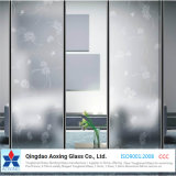 5mm - 12mm Decorative Frosted Glass with Patterns Sandblasted