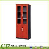 Economic Office Storage Back Units Wood Frame Glass Door Cabinet