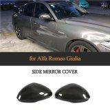 Carbon Fiber Rear Back Mirror Cover for Alfa Romeo Giulia Sedan 4-Door 2015-2018