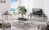 Modern Living Room Furniture Stainless Steel Glass Sofa Coffee Tea Table