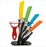 Kitchenware High Quality 5PCS Color Ceramic Knife Set