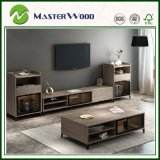 Perfect Storage Living Room Wooden Melamine TV Stand Cabinet Set