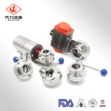 Sanitary Stainless Steel Factory Price Pneumatic/Manual Lever Butterfly Valves Welding/Thread