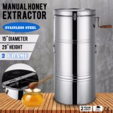 Brand New Large Two 2 Frame Stainless Steel Manual Honey Extractor Machine