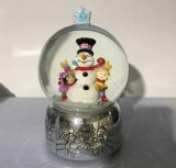 2017 New Design Christmas Snowman Water Snow Globe for Deco