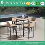 Outdoor Wicker Bar Set Rattan Weaving Bar Stool Garden Wicker Bar Table Patio Weaving Bar Set Club Wicker Bar Chair Furniture