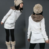 New Korean Long Sleeve Pullover Women Hoodie with Hoody (50189)