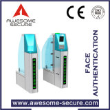Most Sophisticated Biometrical Face Authentication Security Control Flap Barrier with Fare Collecting