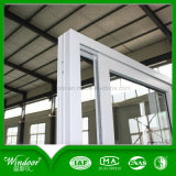 Common White Color Double Insulating Glass UPVC Sliding Window