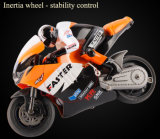 259806-2.4GHz Radio Control 1 - 16 Scale Motorbike with Inertia Wheel Device + Realistic Shock Absorber
