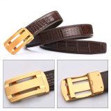 Custom Men Automatic Buckle Genuine Crocodile Belly Leather Waist Belts