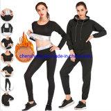 Nanosilver Hot Body Shaper Sausa Suit Sweat Shirt Hoodies Pants Waist Belt for Men Women Running Yoga Gym Fitness Wear