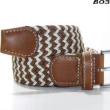 B03 Wholesale Men's Navy Retractable Stretch Belt Fashion Elastic Belts for Jeans