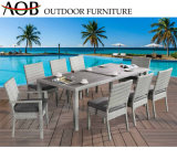 Modern Wholesale Outdoor Garden Hotel Resort Sea Side Rattan Wicker Balcony Beach Table and Chairs Dining Furniture