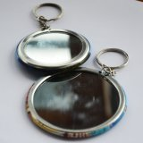 Hot Sales Tin Mirror Keychain with Cheaper Price