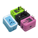 High-End Multi Us EU UK Au Mini Power Plug Universal Travel Adapter with Dual USB Charger Travel Charger Adapter Socket for Smartphone
